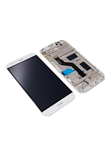Original Huawei Ascend G8 LCD Touch Screen Display Cover Glas Rahmen white