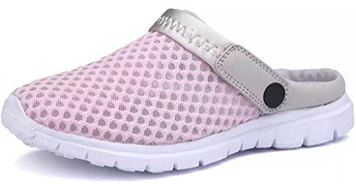 Eagsouni Unisex Clogs Pantoletten Schlüpfen Atmungsaktiv Hausschuhe-Sandalen, Pink, Gr.- 37 EU/ Herstellergröße- 38