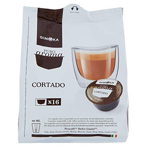 Gimoka - Capsule Compatibili Nescafè Dolce Gusto, Gusto Cortado - 4 confezioni da 16 capsule - 64 capsule