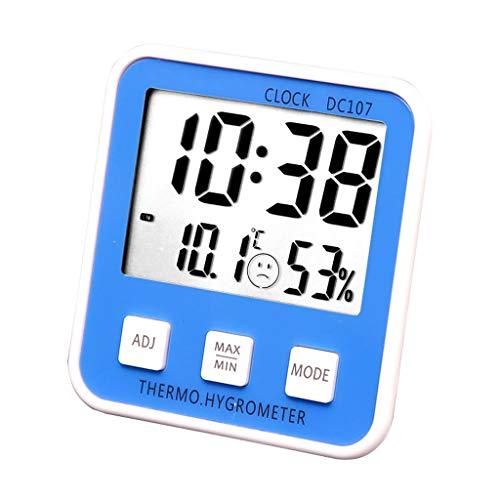 Station m/ét/éo sans Fil num/érique Thermo-hygrom/ètre Humidometer Indicateur de temp/érature Compteur dhorloge Affichage de la Date dalarme Regard