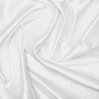 """White DYEABLE POLY SATIN Fabric, 48"""" Width"""