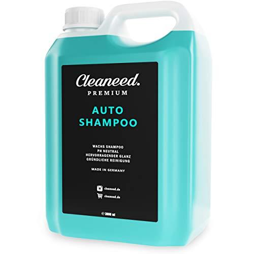 Cleaneed Premium Autoshampoo mit Wachs 3L zum Nachfüllen – Made in Germany – pH-Neutral, Rückstandsfrei, Schonende Reinigung, Starke Schaumbildung
