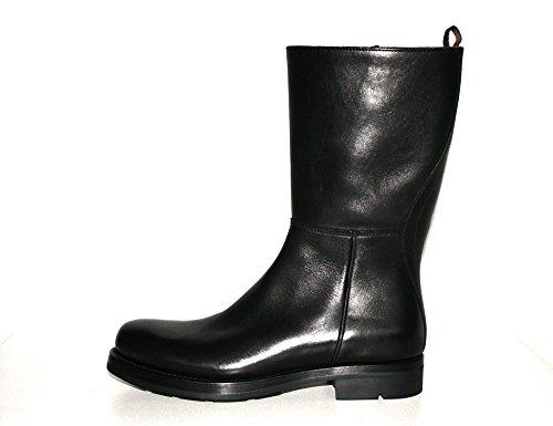 Prada Herren Schwarz Leder Stiefel 2W1892 40 EU / 6 UK