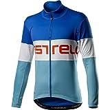 CASTELLI Prologo Jacket, chaqueta deportiva para hombre, Hombre, 4520504, Rescue Blue White Celeste, L