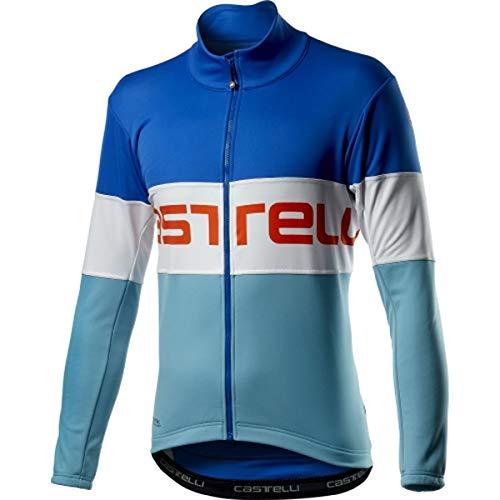 CASTELLI Prologo Jacket, chaqueta deportiva para hombre, Hombre, 4520504, Rescue Blue White Celeste, X-Large