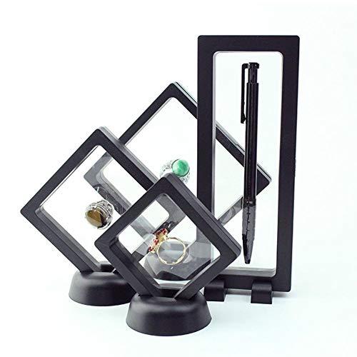 Letway 10PCS PE-Filmbox, Aufhängungs-Displaybox, Ringbox, Schmuck, Halskette, Aufbewahrungsbox für Jade und Perlen, Staub- und Oxidationsbeständigkeit, Schwarz