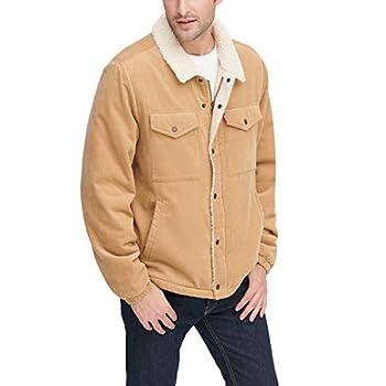 Levi s Men s Corduroy Sherpa Trucker Jacket tan XX-Large
