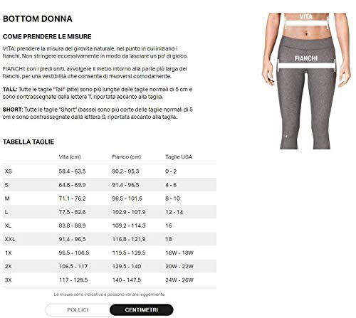 Under Armour, Armour Fly Fast Crop, Leggings, Donna, Nero (Black/Black/Reflective 001), M
