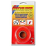 """Rescue Tape   Self-Fusing Silicone Tape   Emergency Pipe & Plumbing Repair   DIY Repairs   Seal Radiator Hose Leaks   Wrap Electrical Wires   Used By US Military   1"""" X 12'   Silicone Rubber   Orange"""