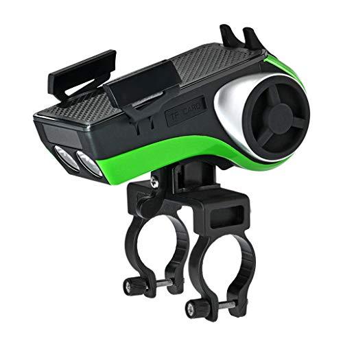 BIKEX Fiets Voorlicht LED Lamp Met Hoorn, USB Opladen IP54 Waterdichte Draadloze Bluetooth Subwoofer Stereo, Mount Telefoon Houder, Mobile Power 4400mAh