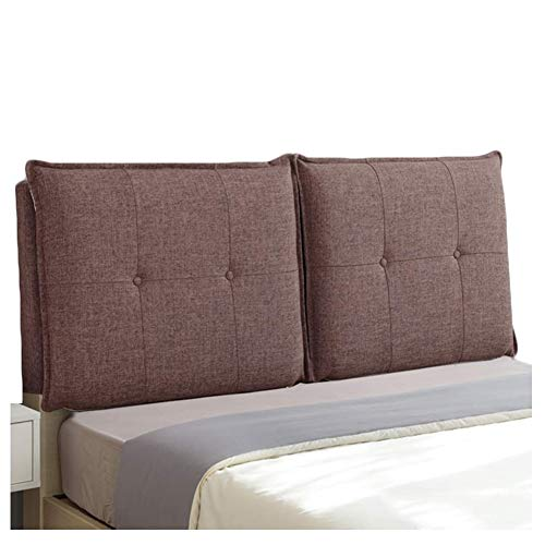 QIANCHENG-Cushion Kopfteil Rückenlehnen Bett Kissen Keilförmige Rückenlehne Lumbalpelotte Weiche Tasche Zuhause Doppelbett Leinen zurück, 8 Farben (Color : #6, Size : 180x58x10cm)
