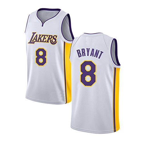 ZXZXING Herren-Basketballtrikot mit Chip Lakers 8# Kobe Bryant-Trikot Swing-Trikot Gesticktes Trikot Sportswear Swingman-Trikot