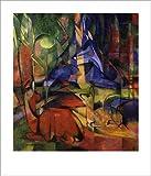 Kunstdruck Rehe im Walde II Expressionismus von Franz Marc Blauer Reiter 18