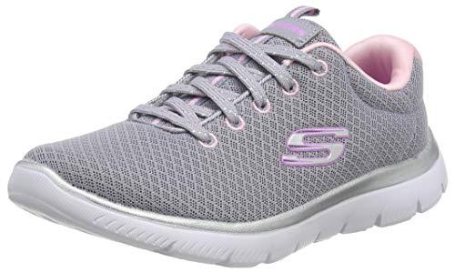 Skechers Damen Summits Sneaker, Grau (Grey Mesh/Pink Trim Gypk), 36 EU