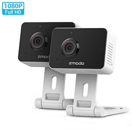Zmodo Wireless Security Camera System (2 Pack) Smart HD WiFi IP Cameras with Night Vision
