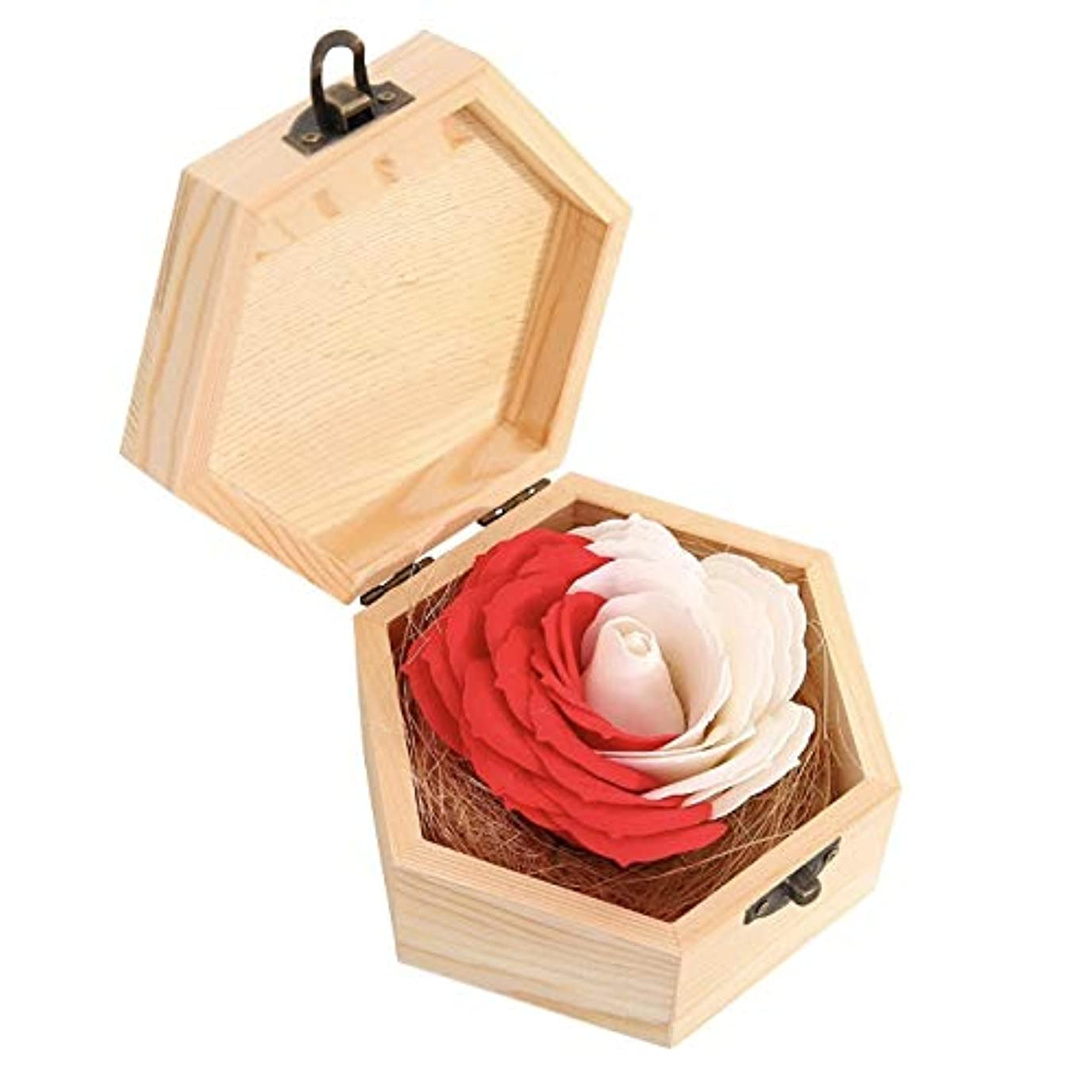 原子炉恵み値下げタイガーリー。 バスソープ 花 バラ クリエイティブギフト 木製ボックス付き パーティー用品 レッド