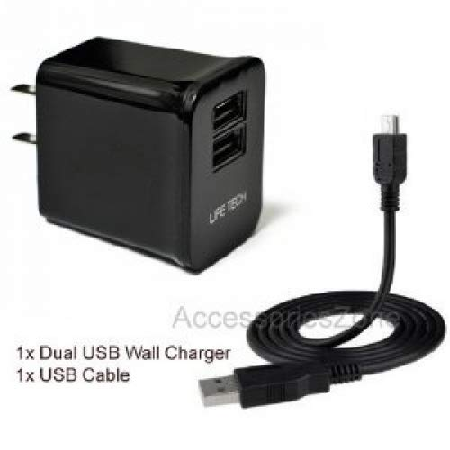 For Blackberry Playbook 7-Inch Tablet (32GB) Tablet 10W 2100mAh Dual USB Ports Wall Home House AC Charger w/USB Cable Illinois