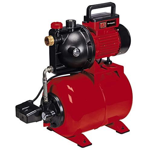 Einhell Hauswasserwerk GC-WW 8042 ECO (800 W, max. 4200 L/h, Wasserfüllanzeige, Wassereinfüllöffnung/-Ablassschraube, Frostschutz, Manometer, 20 l-Tank, Thermoschutz)