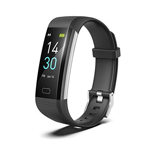 XUEXIU Set Smart Pulsera Set Monitor De Ritmo Cardíaco Toque Fitness Reminder S5 Gen 2 TFT para Compras Al Aire Libre Accesorios (Color : Black)