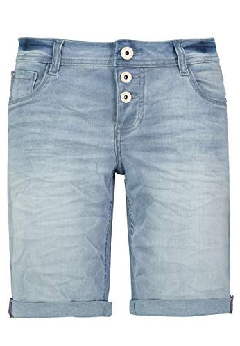 Sublevel Damen Jeans Bermuda Shorts Kurze Hose Light-Blue M