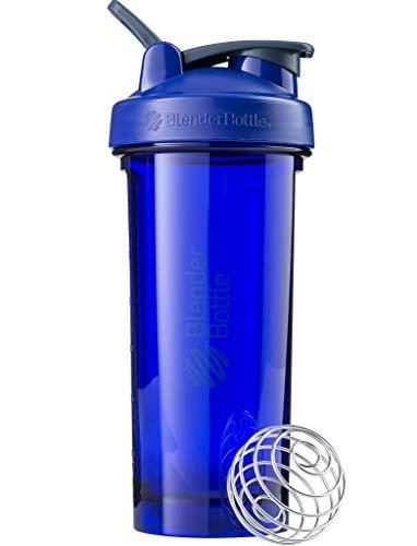 BlenderBottle Pro28 Tritan Trinkflasche mit BlenderBall, optimal geeignet als Eiweiß Shaker, Protein Shaker, Wasserflasche, BPA frei, skaliert bis 600 ml, Fassungsvermögen 820 ml, ultra marine blau