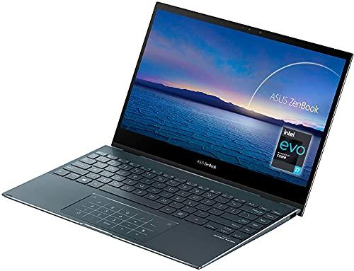 "ASUS ZenBook Flip 13 UX363EA-HP043T - Ordenador portátil 13.3"" Full HD (Intel Core i7-1165G7, 16GB RAM, 512GB SSD, Intel Iris Xe Graphics, Windows 10 Home) Gris Pino-Teclado QWERTY español"