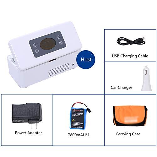 XRX Verwarmde box, draagbaar 2-8 graden koeling, constante temperatuur, medicijnen, storende kop, auto mini-navulling koelkast