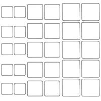DROLE ステンレススチールイヤリング 14形状リング サークルペンダントイヤリング ジュエリー作成 DIYクラフトチャーム用 シルバー LPI14312BD657J171QN