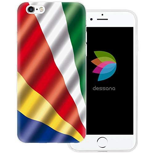 dessana Seychellen transparente Schutzhülle Handy Case Cover Tasche für Apple iPhone 6 Plus/6S Plus Seychellen Fahne