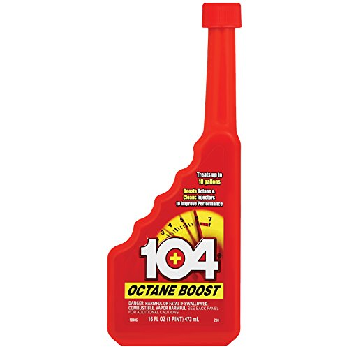 104+ (10406-6PK) Octane Boost - Boosts Octane And Cleans injectors To Improve Engine Performance - Improve Gas Mileage - 1 Bottle Treats Up To 18 Gallons, 16 fl. oz. 6 Pack