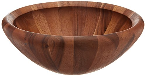 Dansk Wood Classics Round Salad Bowl, 6.15 LB, Brown