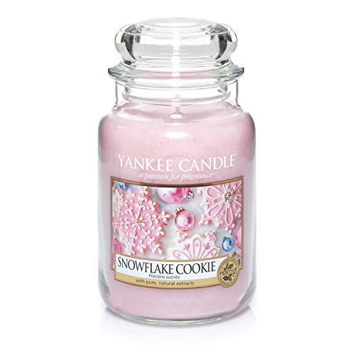 Yankee Candle Duftkerze im großen Jar, Snowflake Cookie, Brenndauer bis zu 150Stunden