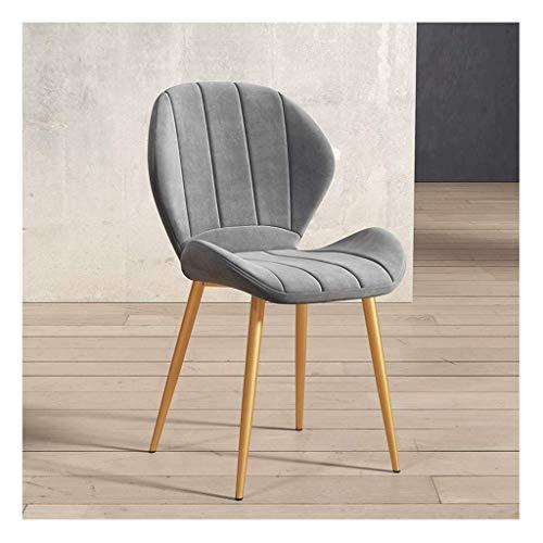N/Z Wohnausstattung Retro Esszimmerstuhl Soft Velvet Sitz und Rücken Metallbeine Küchenstühle für Esszimmer und Wohnzimmer Schreibtischstuhl (Farbe: Beige Größe: A)