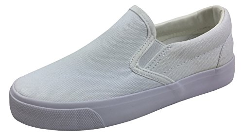 Plain White Canvas Kids Shoes