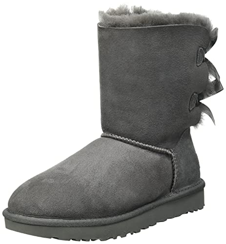 UGG Female Bailey Bow II Classic Boot, Grey, 38 EU