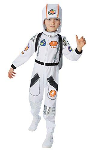 Rubies Disfraz de astronauta uniforme de la NASA, grande, para niños de 7 a 8 años
