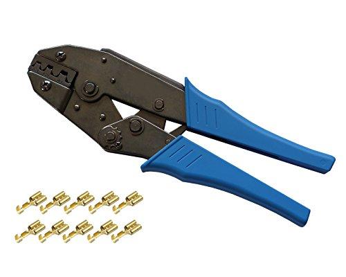 Crimpzange für unisolierte Kontakte 0,50²-6,00mm² Presszange Quetschzange