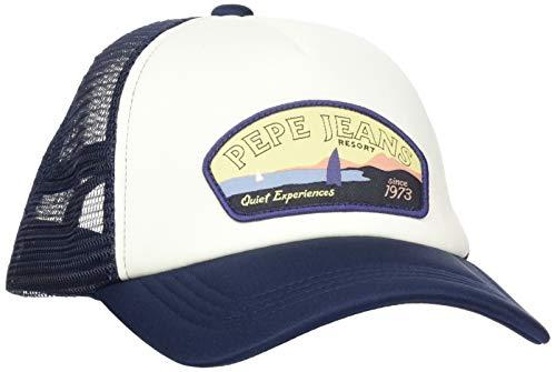 Pepe Jeans Timer Cap Gorra de béisbol, Azul (Navy 595),...