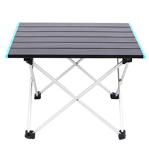 Liyeehao Klappbarer Camping-Tisch Tragbarer Picknicktisch Leichtes Aluminium 16,1 x 13,7 x 11,6 Zoll Rutschfester Schreibtisch für Rucksacktouren im Freien Camping RV Travel BBQ Strandwandern
