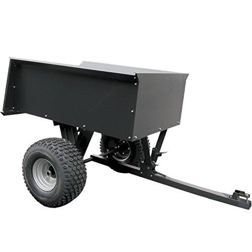 remorque basculante en acier pour quad ATV avec boule d'attelage - 680 kg
