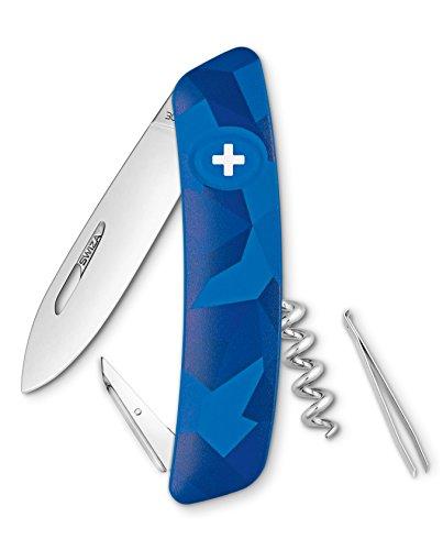 SWIZA Suisse Canif D01 Camo Urbain Bleu, antidérapante, 6 Caractéristiques