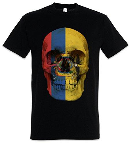 Urban Backwoods Classic Ecuador Skull Flag Camiseta De Hombre T-Shirt Negro Talla XL