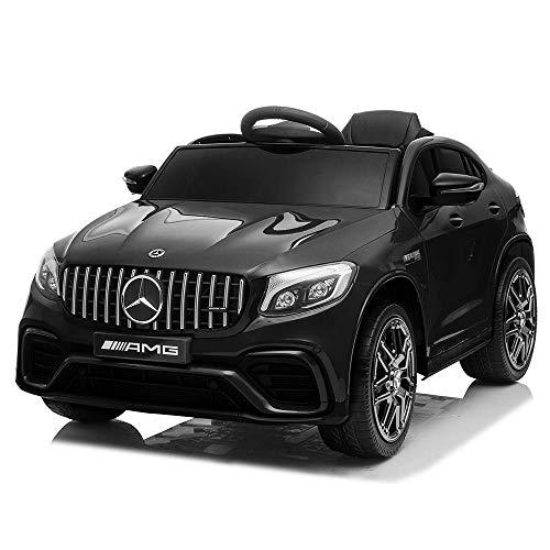 BAKAJI Coche eléctrico infantil Mercedes GLC 63 AMG 12 V con asiento...