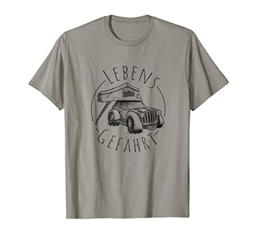 Dachzelter Lebensgefährt l Auto Truck Camping Dachzelt T-Shirt