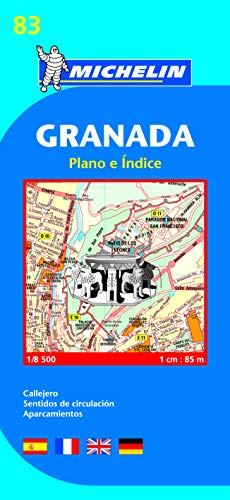 Granada: plano e indice (Planos Michelin)