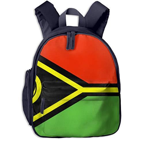 Hdadwy Los niños de la Bandera de Vanuatu empaquetan el Bolso estupendo Colorido de la Mochila cómoda del Estudiante