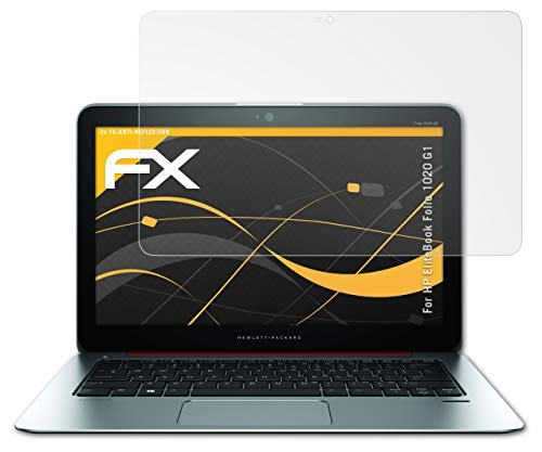 atFolix Panzerfolie kompatibel mit HP EliteBook Folio 1020 G1 Schutzfolie, entspiegelnde & stoßdämpfende FX Folie (2X)
