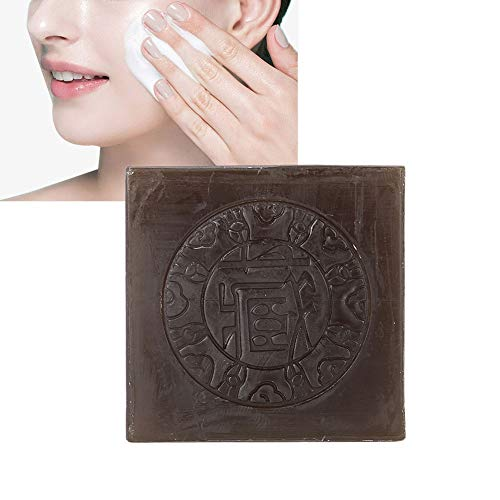 Acné d'enlèvement d'acarien de savon fait main au safran de 100g, savon de nettoyage de peau de visage de corps de traitement