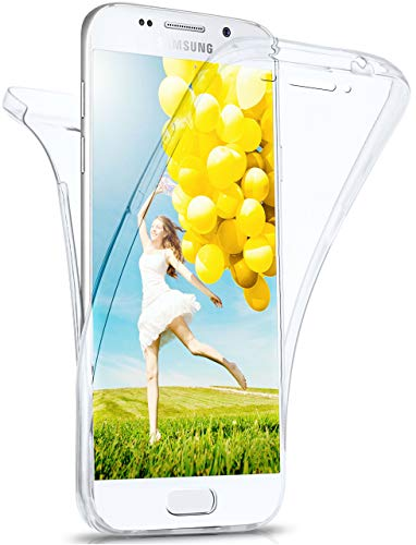 MoEx Cover Fronte-Retro in Silicone Compatibile con Samsung Galaxy A3 (2016) | Trasparente, Trasparente