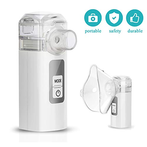 MGLIFMLY Mini Handheld Cool Mist Steam Inhaler, Portable Steam Sprayer for Travel or Home Daily Use, Compact Sprayer Inhaler for Kids and Adults